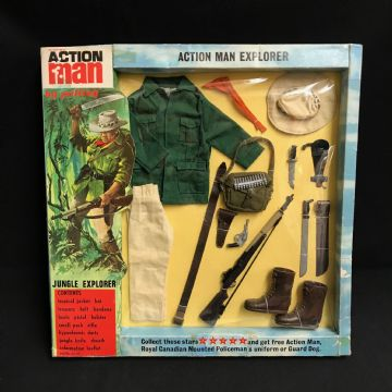 VINTAGE ACTION MAN - JUNGLE EXPLORER  - CARDED UNIFORM (Ref 2)